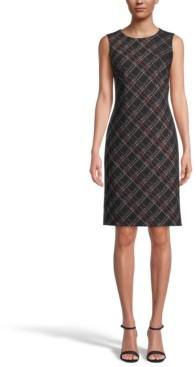 Kasper Petite Sleeveless Printed Sheath Dress