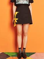 Blank Ribbon Eyelet Skirt Bk