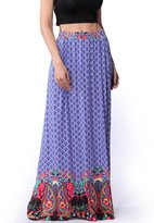 Ruiyige Women's Long Maxi Multi Color Scale Print Skirts Boho Maxi Skirt