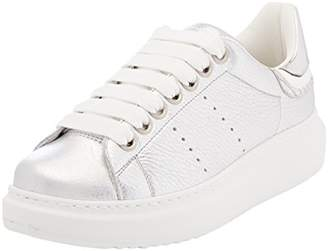 D'Acquasparta D'ACQUASPARTA Women's Gemma Trainers, Silver (AS D350)