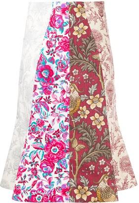 Marine Serre Regenerated Curtain Skirt