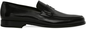 Prada Brushed Leather Blake Loafers