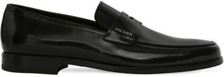 Prada Brushed Leather Blake Loafers