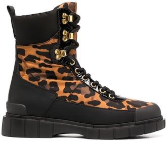 Car Shoe Leopard Print Combat Boots