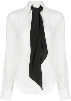 Alexis Crawford scarf detail shirt