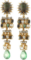 Alexis Bittar Tiered Starburst Chandelier Clip Earrings