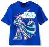 Star Wars Toddler Boys' Swim Rashguard - Blue