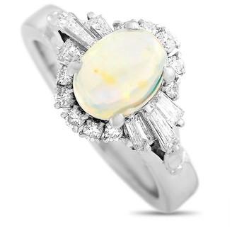 Heritage Platinum 1.60 Ct. Tw. Diamond & Opal Ring