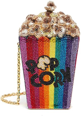 Judith Leiber Popcorn Main Feature' Crystal Embellished Crossbody Bag