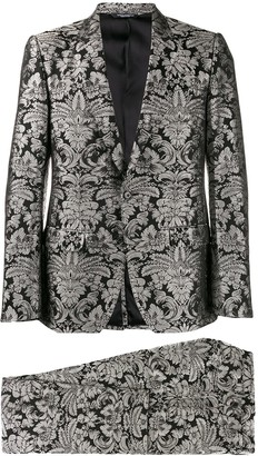 Dolce & Gabbana Floral Embroidered Two-Piece Suit
