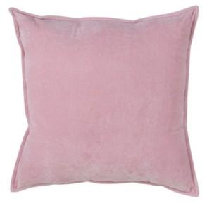 """Saro Lifestyle Solid Cotton Velvet Polyester Filled Throw Pillow, 20"""" x 20"""""""