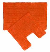 Metro 2 Piece Bathmat Sets Orange