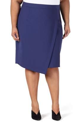 PARI PASSU Asymmetrical Stretch Wool Skirt