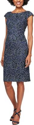 Alex Evenings Women's Petite Short Embroidered Dresses