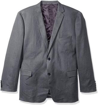 U.S. Polo Assn. Men's Big and Tall Linen Sport Coat Grey 50 Long