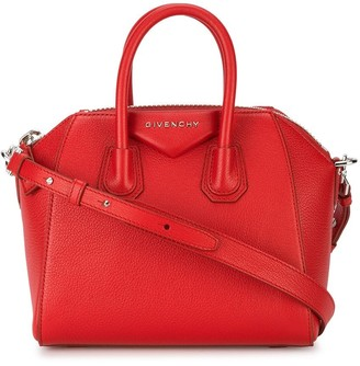 Givenchy mini red Antigona shoulder bag