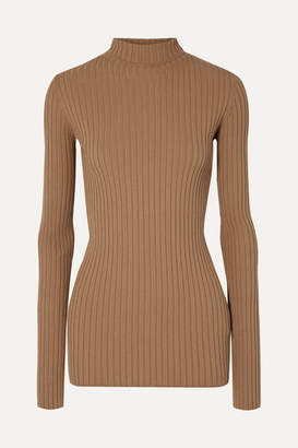 MM6 MAISON MARGIELA Ribbed-knit Turtleneck Sweater - Tan