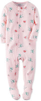 Carter's Baby Girls' 1-Pc. Scotty Dog-Print Footed Pajamas