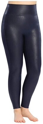Spanx Faux Leather Leggings (Wine) Women's Casual Pants