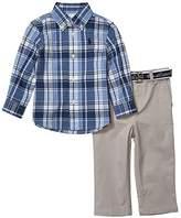 Polo Ralph Lauren Shirt, Belt Pants Set (Infant) (Blue/White Multi) Boy's Active Sets