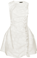 Simone Rocha Bonded Lace Dress with Floral Embroidery