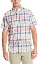 U.S. Polo Assn. Men's Short-Sleeve Madras Sport Shirt