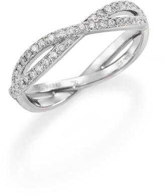 De Beers Infinity Diamond & 18K White Gold Full Band Ring