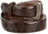 Polo Ralph Lauren Sterling-Accented Alligator Belt