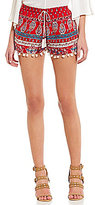 Band of Gypsies Paisley Pom Trim Short