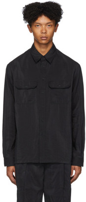 Lemaire Black Dry Silk Military Shirt