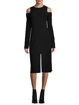 Tibi Solid Cold-Shoulder Dress