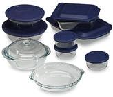 Pyrex 17-Piece Glass Bakeware Set