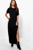 boohoo Tall Split Side T-Shirt Maxi Dress