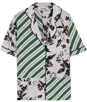 Diane von Furstenberg Iman Printed Silk Crepe De Chine Shirt