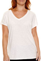 JCPenney A.N.A a.n.a Relaxed Fit V-Neck T-Shirt - Plus