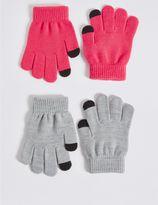 Marks and Spencer Kids' 2 Pack Gloves