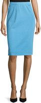 Ming Wang Knit Pencil Skirt, Doll Blue
