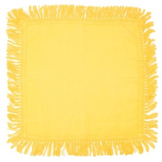 Peter Pilotto Once Milano - X Fringed Linen Napkin - Gold