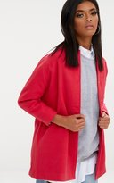PrettyLittleThing Pink Press Stud Coat