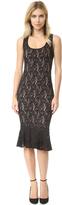 Fuzzi Sleeveless Lace Dress