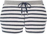 Alexander Wang Striped French cotton-terry shorts