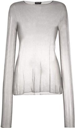 Giorgio Armani See-Through Knitted Jumper