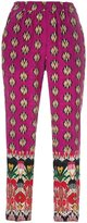 Etro multi-print cropped trousers - women - Silk - 40