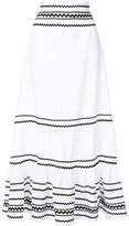 Lisa Marie Fernandez full-length stripe skirt - women - Linen/Flax - I