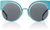Fendi Women's Eyeshine Cat-Eye Sunglasses-BLUE, NO COLOR