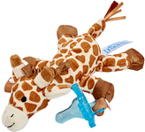 Dr Browns Giraffe Plush Toy & Blue One-Piece Pacifier