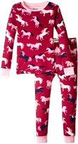 Hatley Fairy Tale Horses Pajama Set (Toddler/Kid) - Pink - 2