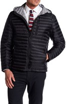Nautica Zip Hooded Quilted Down Jacket