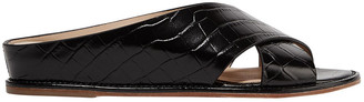 Gabriela Hearst Ellington Croc-effect Leather Sandals