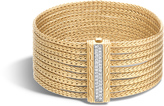 John Hardy Women's Classic Chain Nine Row Bracelet in 18K Gold with Diamonds